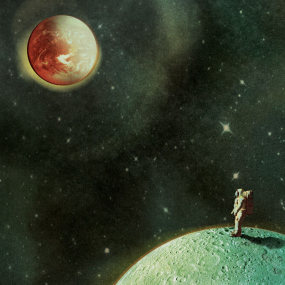 'Man on the moon' made by Christel Wolf