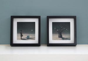Framed illustrations 'Paper Kite'