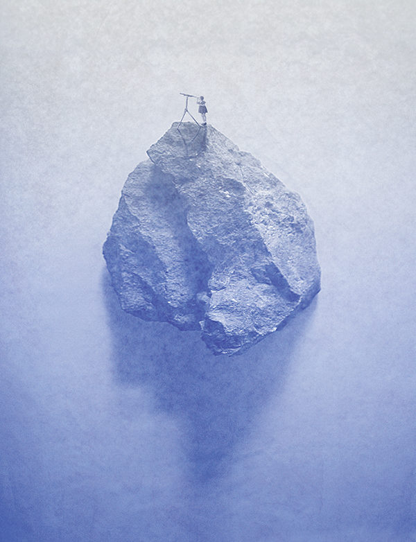 'girl on a rock' made by Christel Wolf